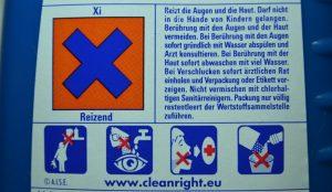 Produkt mit alter Gefahrstoffkennzeichnung