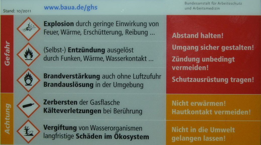 Gefahrstoffkennzeichnung BAUA