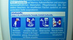 Produkt ohne Gefahrstoffkennzeichnung