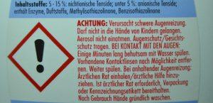 Produkt mit neuer Gefahrstoffkennzeichnung