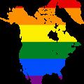 Landkarte in LGBT Farben